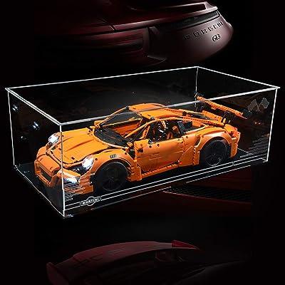 WOLFBSUH Building Block Acrylic Display Box Dustproof Show Box for Lego Porsche 911 42056: Home & Kitchen