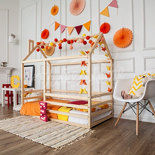- Montessori bed, children bed, frame bed, bed house, wood bed, kids teepee, baby bed house, nursery crib, children furniture, WITH slats