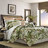 Tommy Bahama Palmiers Comforter Set, Queen, Medium Green