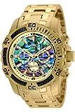 Invicta Men's Pro Diver Scuba Quartz Chronograph Carbon Fiber Bezel Abalone Dial Bracelet Watch, 50mm