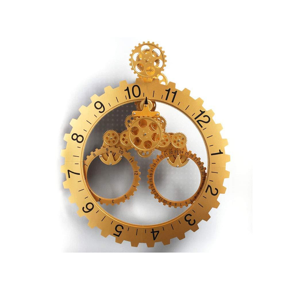 ギアウォールクロック、歯車時計移動サイレントウォール腕時計 DIY メカニカルギアと日付時計リビングルームベッドルームオフィス時計家の装飾パーフェクトギフト大 56 * 67 * 12CM,C,56*67*12CM 56*67*12CM C B07Q1B1X94