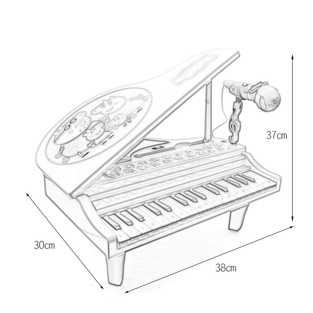 DUWEN Teclado Infantil de plástico, pequeño Piano con micrófono, Chica Principiante, Juguete: Amazon.es: Hogar