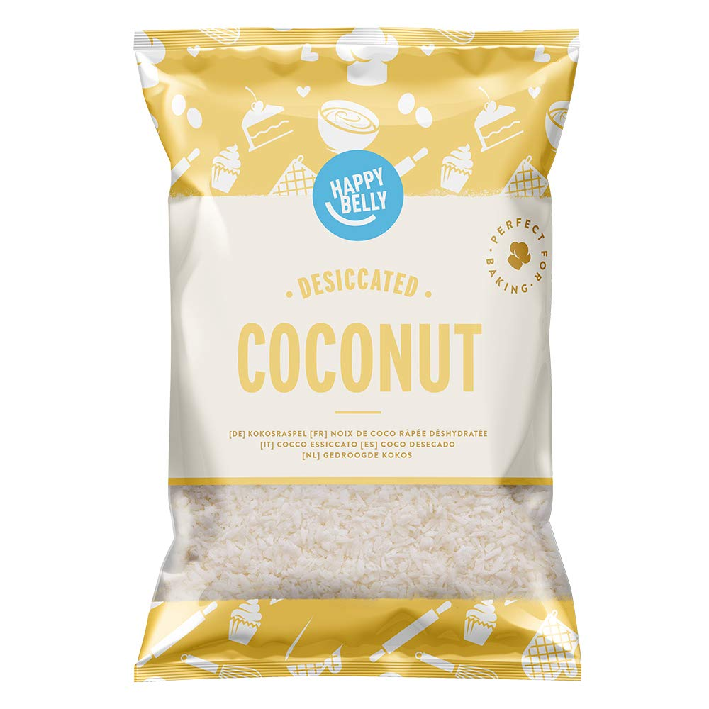 Amazon Brand - Happy Belly Desiccated Coconut 200gr x 5