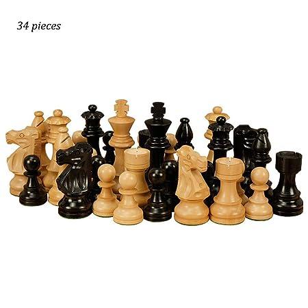 AILI Juegos Tradicionales Ajedrez Damas de ajedrez de Madera Niños ...