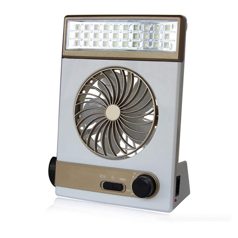 Multifunction Fan Solar Camping Light Lamp Flashlight USB Charging Mini Portable Outside Camp Travel,Gold