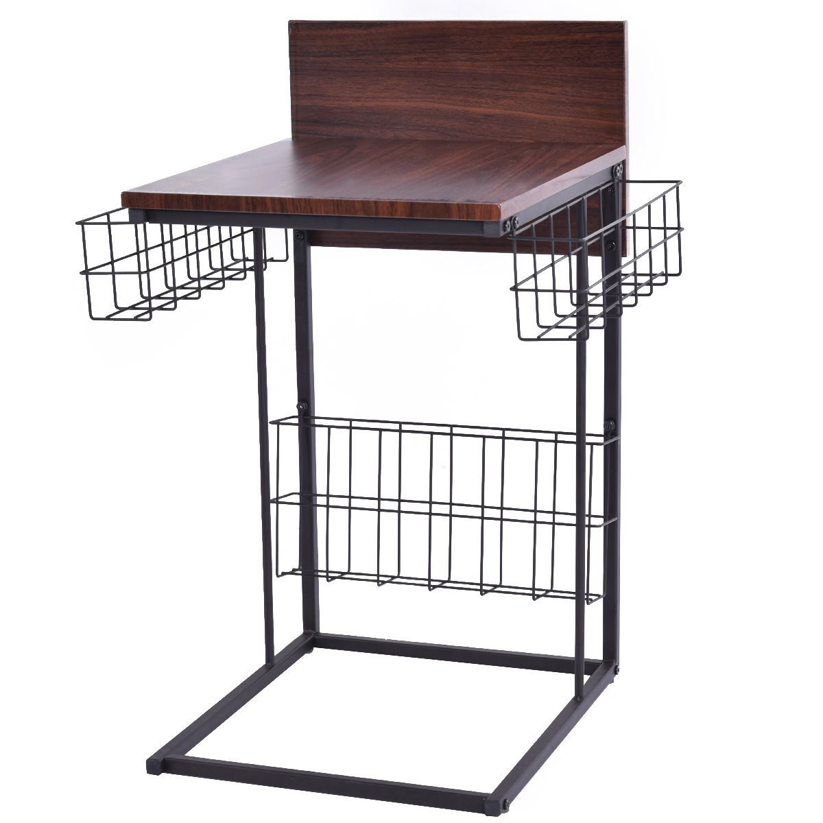AK Energy Guest Reception Office Sofa Side Table Living Room Home Furniture Decor with Storage Basket