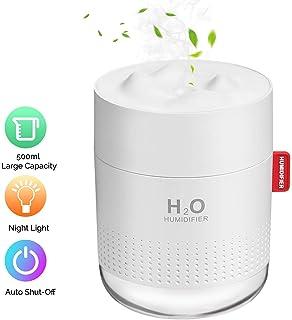 Healifty Mini humidificador USB 280 ml LED 7 colores luz para coche y oficina Difusor de aceites esenciales port/átil ultras/ónico humidificador humidificador humidificador purificador de aire