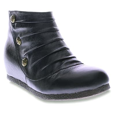 deals Spring Step Chives Wedge Boots Womens Black AU:579415