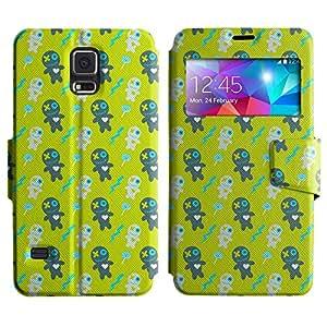 LEOCASE Oso De Peluche Funda Carcasa Cuero Tapa Case Para Samsung Galaxy S5 I9600 No.1000224