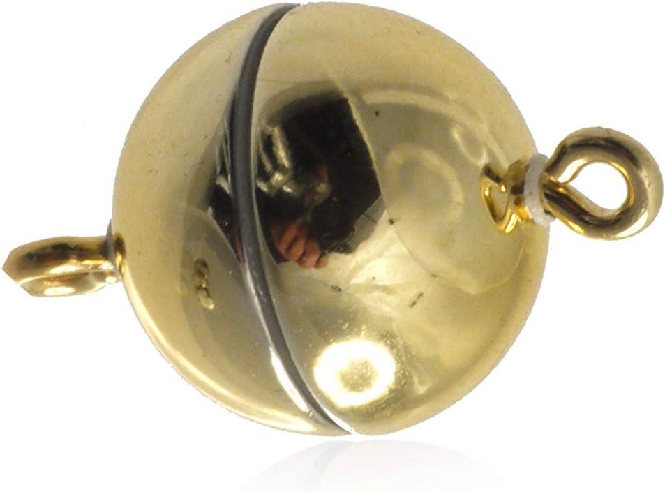 Creative-Beads Magnetverschluss f/ür Ketten und Schmuck 12mm rund bronce in Deutschland hergestellt starker Magnet