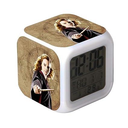 QIANXIAN Relojes despertadores Harry Potter,Despertador Retroiluminación Colorido Digital Relojes despertadores,atenuador Relojes de