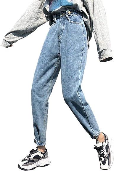 Tasty Life Jeans Abrigados Para Mujer Pantalones Harem Solidos De Cintura Alta Pantalones Gruesos Y Calidos De Invierno Jeans Holgados Vintage Ropa De Calle Fashion Harajuku Amazon Es Ropa Y Accesorios
