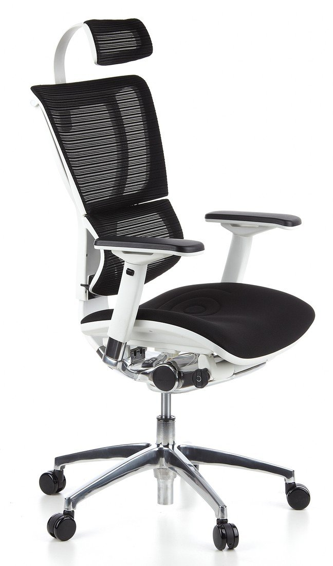Bürostuhl weiß stoff  hjh OFFICE 652805 Bürostuhl Chefsessel ERGOHUMAN LADY Stoff ...