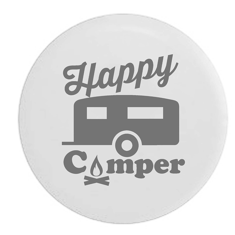 Pike Happy Camper Camp Fire RV トレーラー スペアタイヤカバー OEM ビニール 32