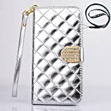 Big Mango Multipurpose Fashion Wristlet Case Plaid Design Flip Stand Folio PU Leather Case and Wallet Cover for Apple iPhone 6 Plus,6+ ,5.5