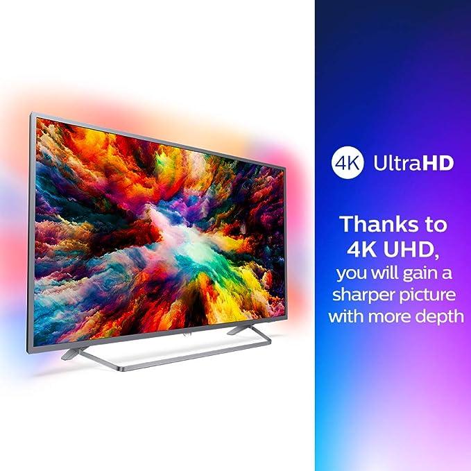 Philips 7300 Series Televisor 4K Ultraplano con Tecnología Android TV 43Pus7303/12: Philips: Amazon.es: Electrónica