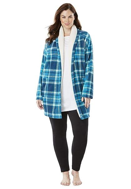 da2751416e5 Women s Plus Size Sherpa-Lined Microfleece Bed Jacket at Amazon Women s  Clothing store