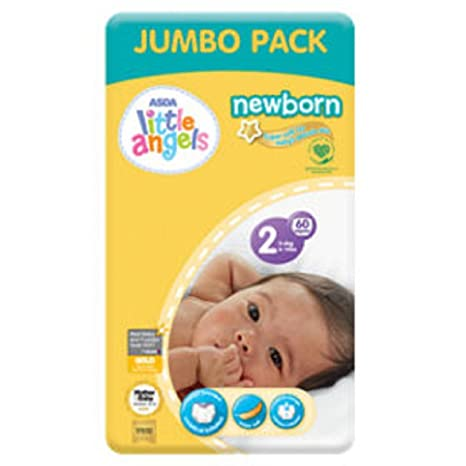 ASDA Little Angels - Pañales para recién nacido, tamaño 2, paquete ...