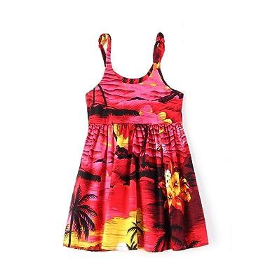 1ae8199a8e0e8 Hawaii Hangover Fille Élastique Sangle hawaïen Luau Robe dans Le Coucher du  Soleil Rouge  Amazon.fr  Vêtements et accessoires