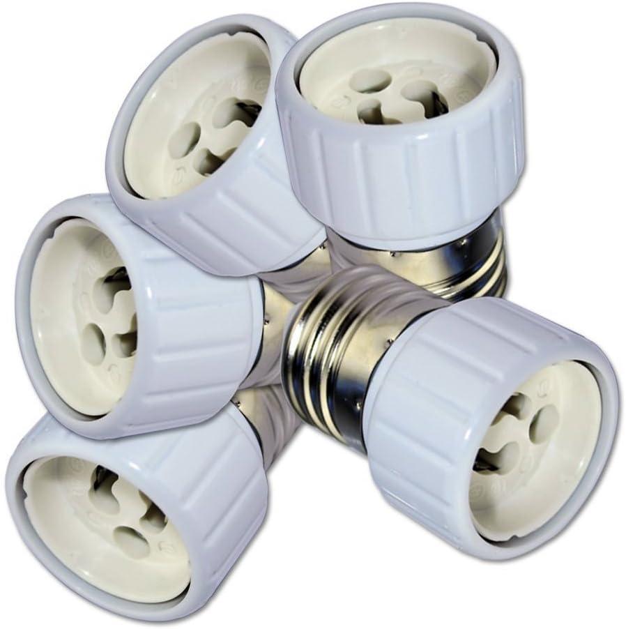 5pcs//lot E27 to Gu10 Light Lamp Bulbs Adapter Converter Socket Soquet Base