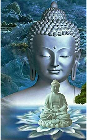 Kit Peinture Adulte Perle Diamant A Coller Photo Personnalis/é Puzzle Bouddha 30x30cm