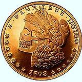 1 New Morgan Zombie Skull 1 Oz Pure .999 Copper Round