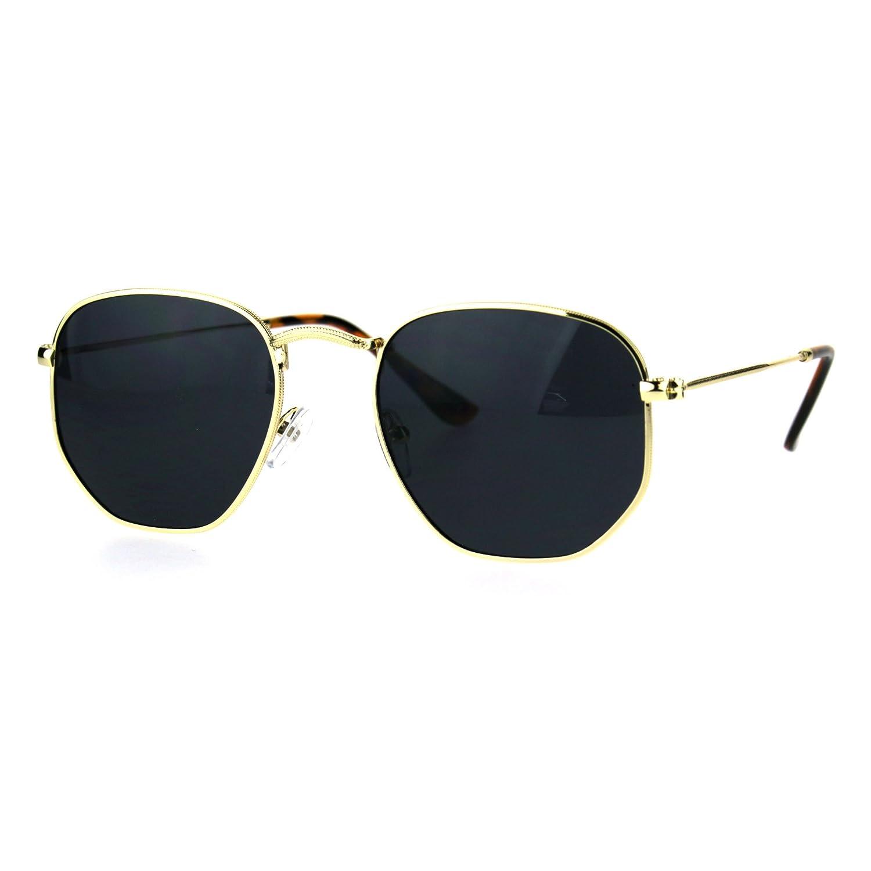 78e3f3c55ca9 Amazon.com: OG 90s Gangster Rapper Rectangular Luxury Fashion Wire Metal  Rim Sunglasses Gold Black: Clothing