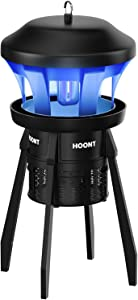 Hoont Indoor and Outdoor 3-Way Mosquito and Fly Trap Killer with Stand - Bright UV Light, Fan