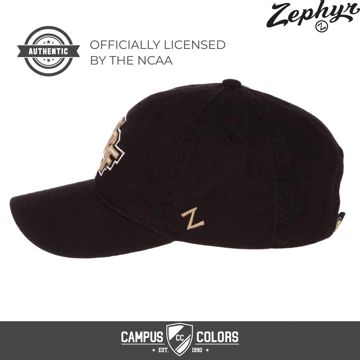 Zephyr Central Florida Knights NCAA Adult Scholarship Relaxed Adjustable Hat Black