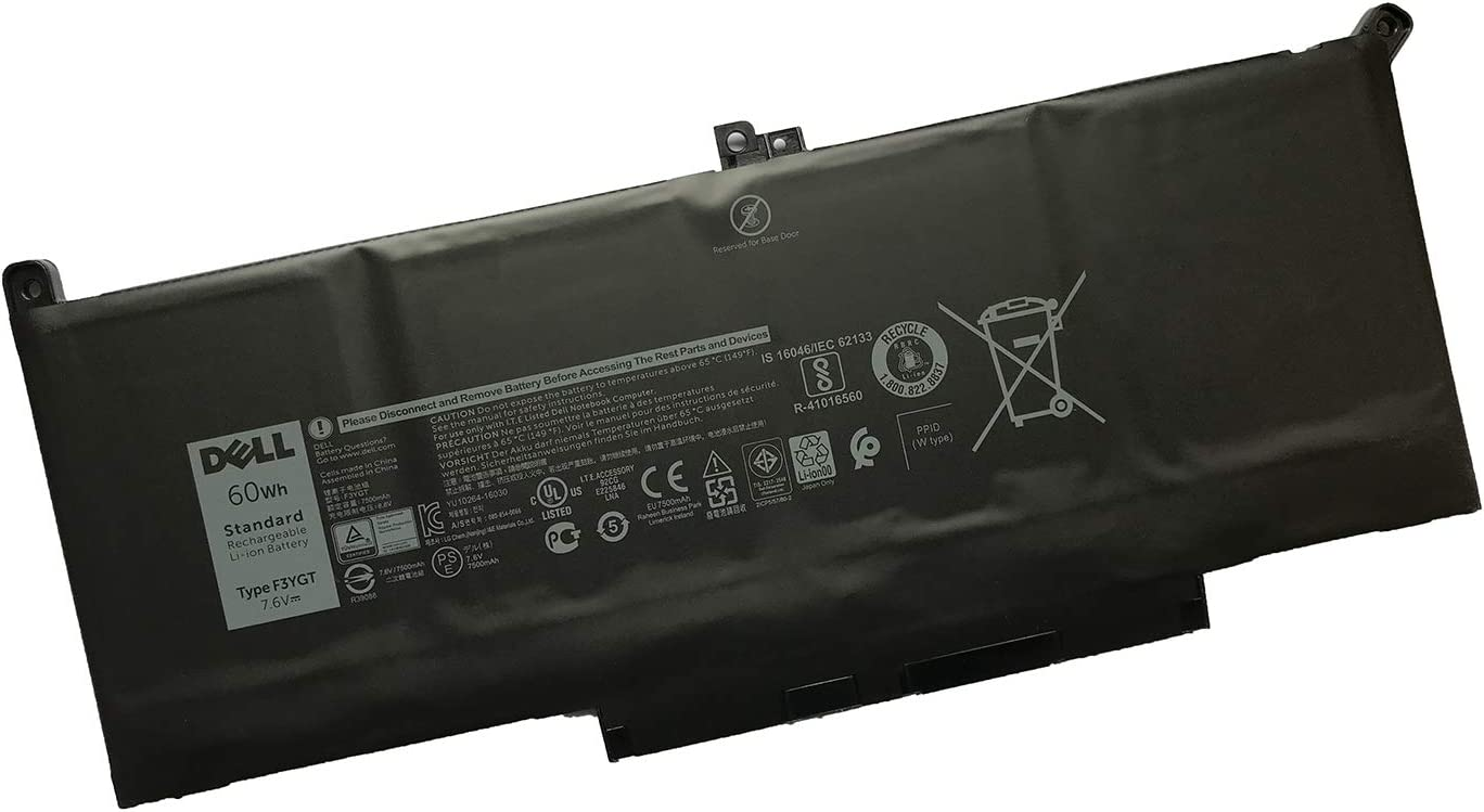 DELL F3YGT Notebook Battery 7.6V 60Wh for DELL Latitude 7280 7290 7380 7390 7480 7490 Laptop