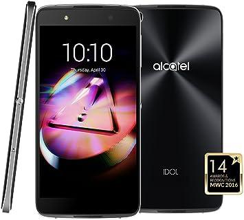 Alcatel 6055 K Dark Grey Idol 4 LTE Dual SIM Smartphone 13,2 cm (5 ...