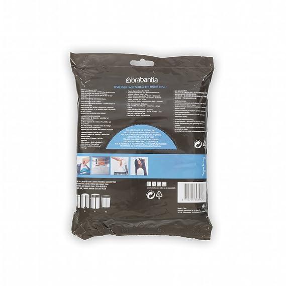 Brabantia 348969 - Bolsas basura, dispensador, 5 l, 60 unidades: Amazon.es: Hogar