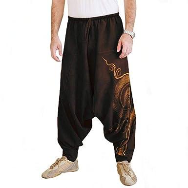 Amazon.com: Otuou - Pantalones de yoga para hombre, talla ...