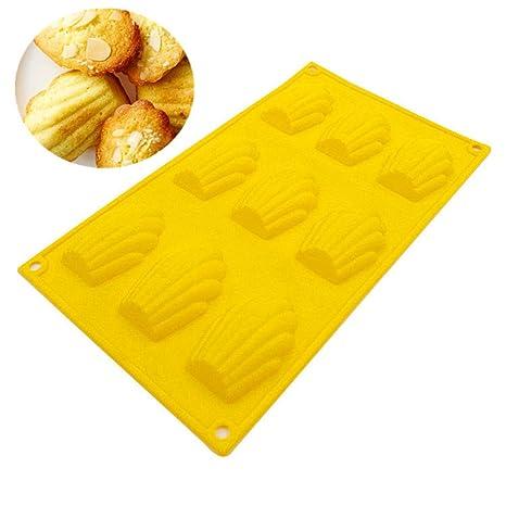Molde de silicona para galletas de 6 cavidades, molde de cocina, molde para hornear
