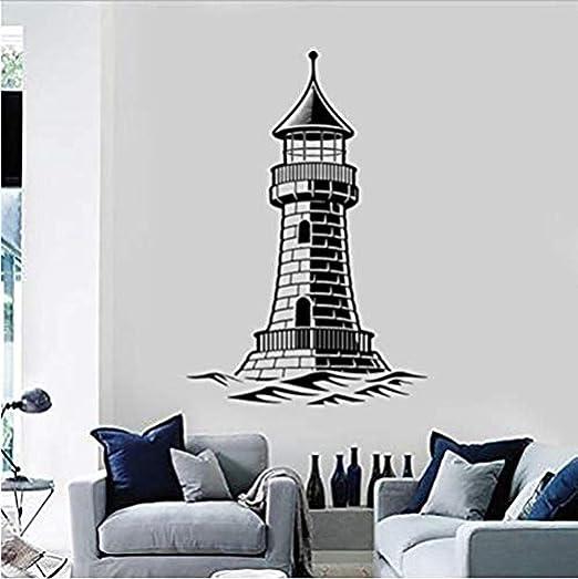 Faro de Zykang Arte náutico Wave Marine Style Vinilo Tatuajes de ...