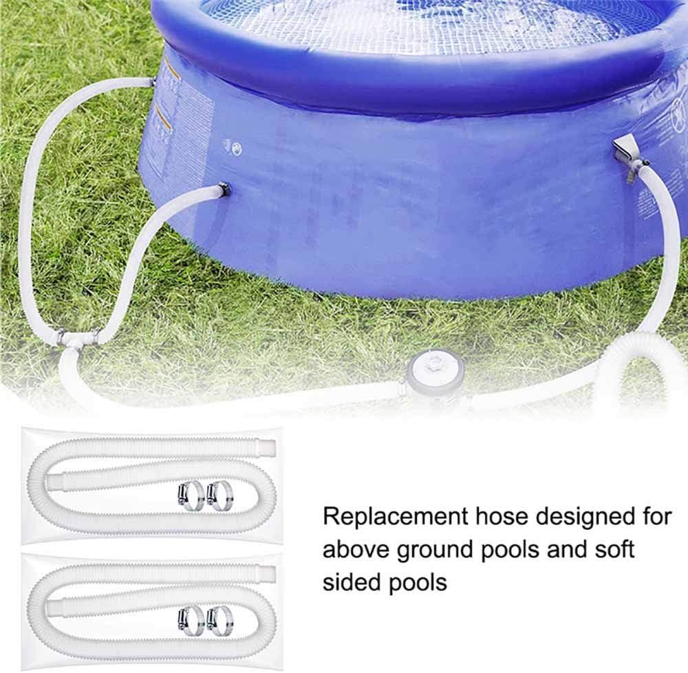 Manguera de repuesto para bomba de piscina con 4 abrazaderas de metal para filtro de piscina TTAototech