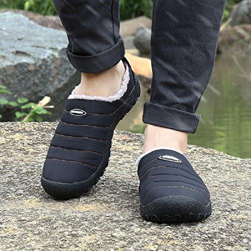 Chaussons Chaussure Fermé Coton Noir De Hiver Neige Antiderapant Imperméable Chaudement Chaussures De 1 Bottines Fluffy Femmes Hommes qnx0zS60