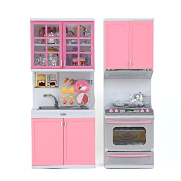Amazon.com : Plastic Child Kitchen Pretend Play Toy Set ...
