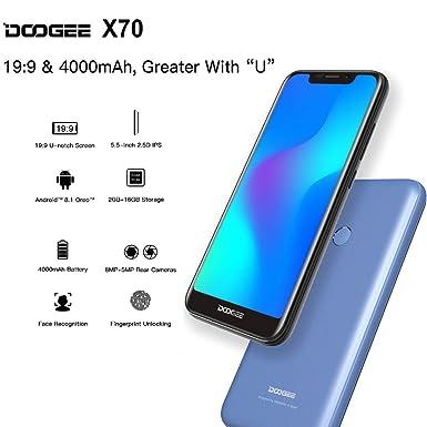 Amazon.com: DOOGEE X70 - Smartphone 5.5 Pulgadas, Android ...
