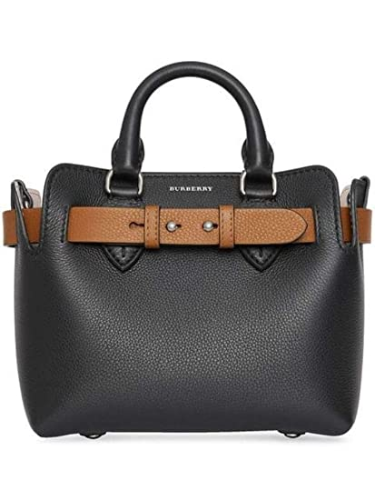 Burberry Women s 8006678 Black Leather Handbag  Amazon.co.uk  Clothing 27863a7ce5548