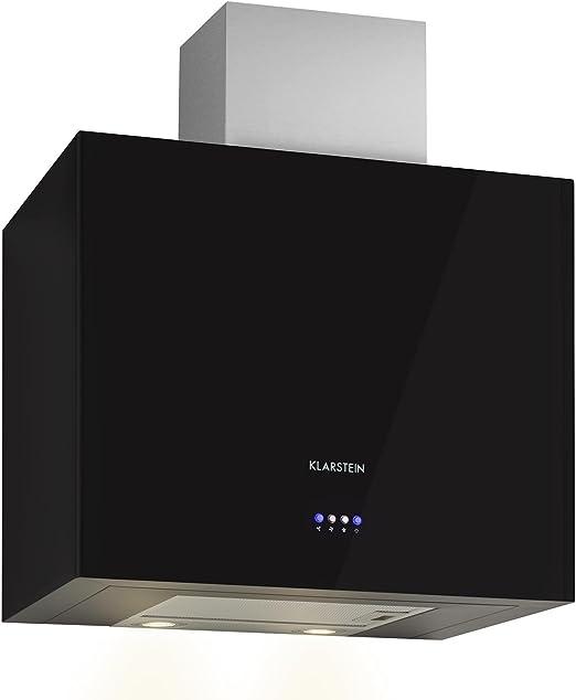 KLARSTEIN Cuboo Campana extractora de Humo (Capacidad absorción hasta 340 m³/h, 3 Niveles Potencia, iluminación LED integrada, Forma cúbica, Poco Ruido, Frontal Negro): Amazon.es: Grandes electrodomésticos
