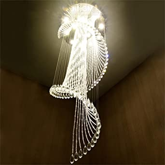 DELLT LED Treppenhaus Kronleuchter Rotierende Treppe Lampe Lange Moderne Einfache Duplex Villa Boden Medium