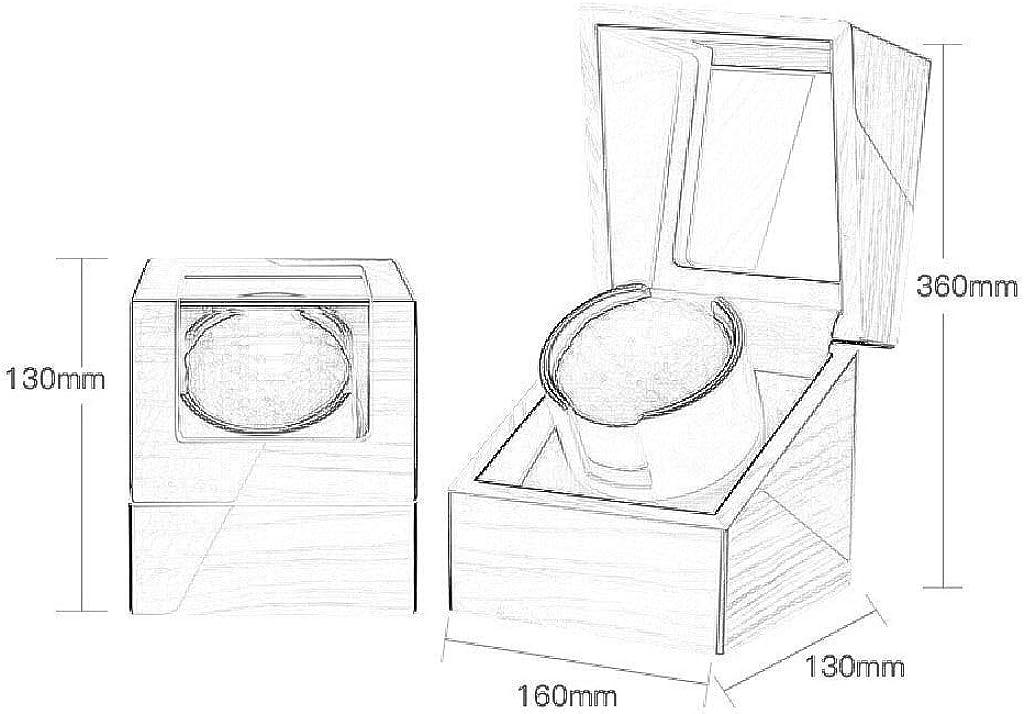 QLL Mini Watch Winder Scatola Orologio a Carica Automatica, Design Antimagnetico, Meccanismo Silenzioso Per 1 Orologi da Polso Nero