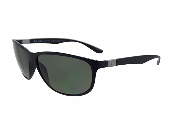 Ray Ban Liteforce Tech RB4179 601S9A Matte Black/Polarized Green 62mm Sunglasses