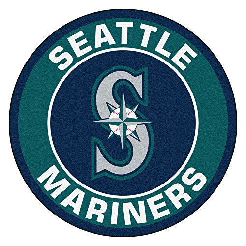 Fanmats 18150 MLB Seattle Mariners Roundel (Seattle Mariners Door Mat)