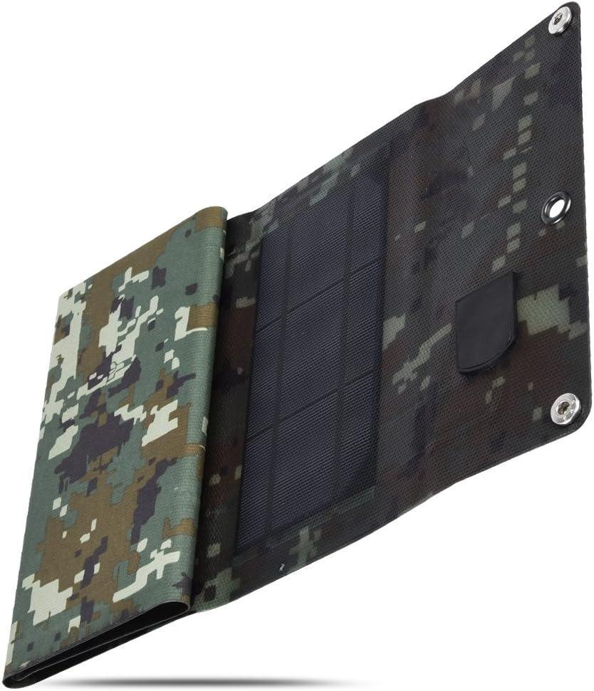 Sulprewopi 10W USB Solar Cell Charger,Foldable Monocrystalline Mobile Solar Panel for Charging Smartphone,Power Banks Black