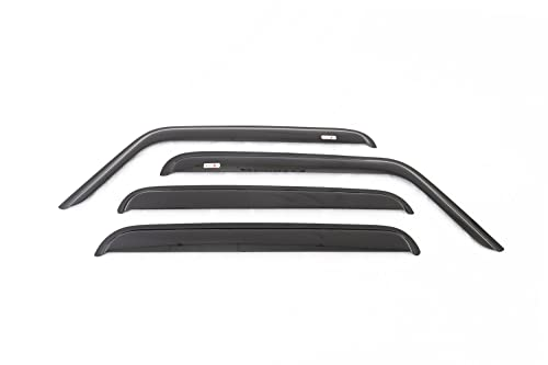 Rugged Ridge 11351.12 Smoked Acrylic Front and Rear Window Rain Deflectors