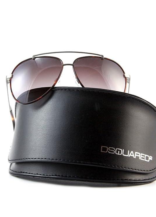 DSQUARED ² Designer Sonnenbrille Braun in Leopardenmuster-Platin zyxqCUT