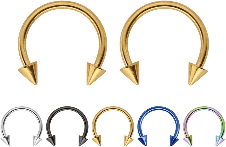 Amazon Com 2pcs Rockfake Septum Medical Titanium Nose Ring Piercing Silver Gold Nose Piercing Body Jewelry For Women Girls 2pc Black 1 2x10x3 Mm Jewelry