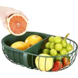 Wire Fruit Basket, Creative Mesh Fruit Dish Basket Bowl, Countertop Fruit Basket Bowl Storage Modern Style Container Centerpi